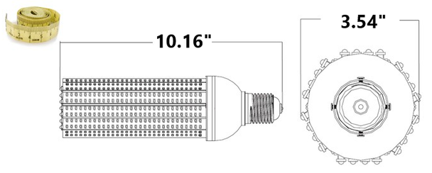 ICM50-AMBER 50 Watt Sea Turtle Friendly Corn Light LED Replacement Medium (E26/27) Base and E39 mogul Adapter Amber Color. HPS Replacement