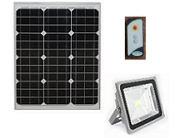 LGF-2700-P Solar Powered Flood Light Fixture 2700 Lumens Wall Mount Area light, Programmable