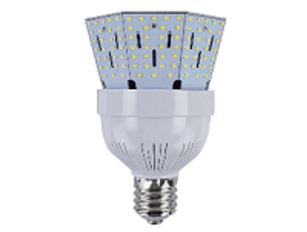 ICYB 60 Watt LED Corn Bulb, Post Light Replacement Bulb 7800 Lumen  (E26/27) Base w\E39 Adapter ETL Listed 6000K DLC