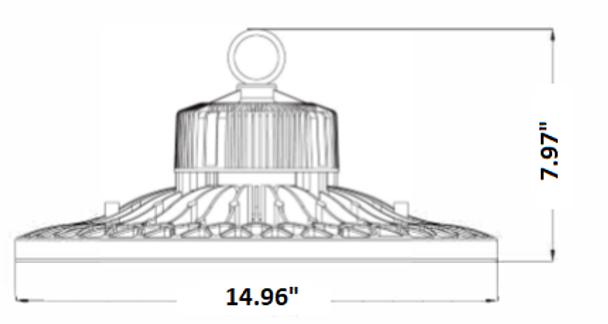 PIR Sensor Controlled LED High Bay light \ Low Bay Light Fixture with Philips LED Array, 100 Watt LMHB100 Series 400W Metal Halide equivallent