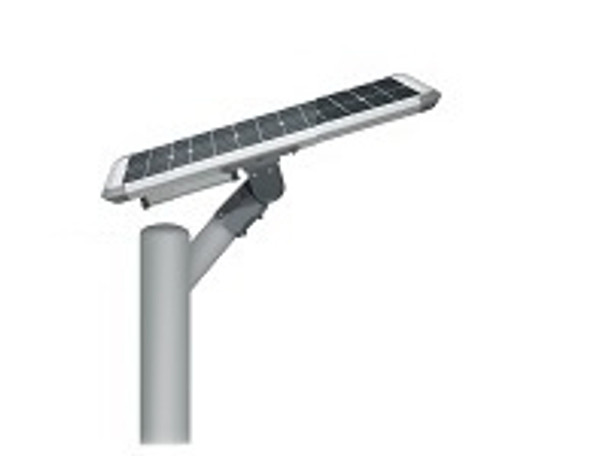 20W Totally integrated, All In one  Solar LED Street Light with slipfitter Mount, 3000 Lumens, Type 3 or Type 5 Light Spread