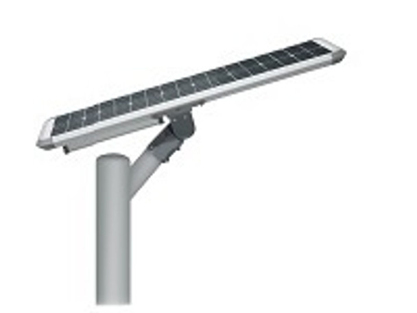 30W Totally integrated, All In one  Solar LED Street Light with slipfitter Mount, 4400 Lumens, Type 3 or Type 5 Light Spread