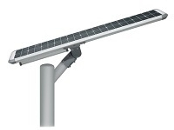 40W Totally integrated, All In one  Solar LED Street Light with slipfitter Mount, 5800 Lumens, Type 3 or Type 5 Light Spread