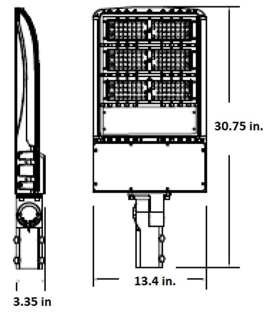 185 Watt 26000 Lumens LED Area Light Fixture with slipfitter mount 3000K Color temp Pole Light 800 Watt HPS Equivalent