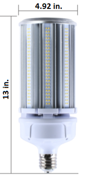 IP65 Rated LED Corn Light Bulb,120 Watt EX39 Base ETL DLC Listed 5000K, 15600 lumens Fanless Design