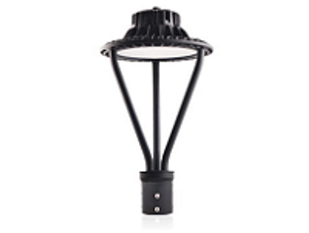 Dark Skies Compliant LED Post  Light Fixture 50 Watt Halo Style with Acrylic Lens 6500 Lumens ETL DLC Full Cutoff
