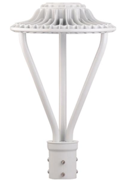 ILPTL175-5K Dark Skies Compliant LED Post Light Fixture 75 Watt Halo Style with Acrylic Lens 9750 Lumens ETL DLC Full Cutoff