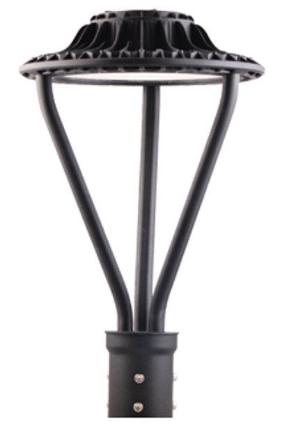 Dark Skies Compliant LED Post  Light Fixture 75 Watt Halo Style with Acrylic Lens 9750 Lumens ETL DLC Full Cutoff