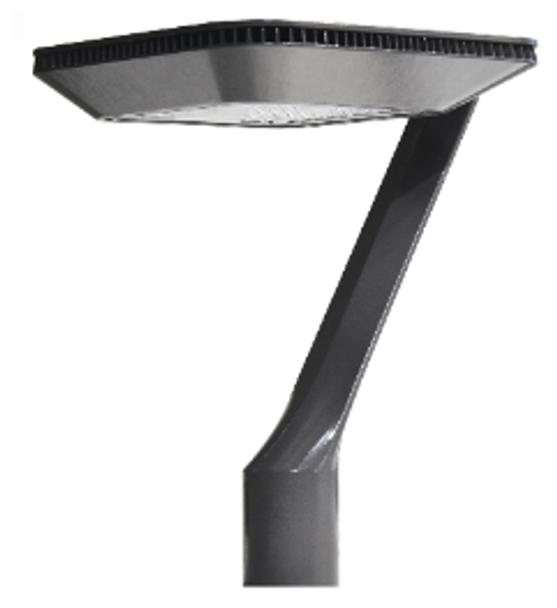 ILPTLD75-5K Deco Style LED Post Top Light Fixture 75 Watt Artistic Style with Acrylic Lens 9500 Lumens UL DLC Dark Skies Full Cutoff