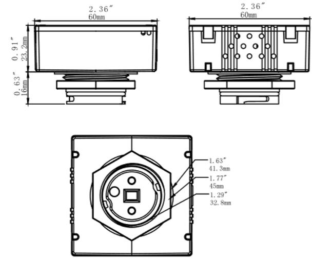 ISENMO1 Motion Sensor 120V to 277V for light fixtures LED Compatible PIR Sensor. 1/2 npt. Programmable