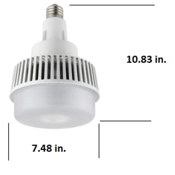 ICYG75-5K 75 Watt High Bay LED Retrofit Bulb, (E26/27) Mogul (E39/40) EX39 Base UL DLC Listed 5000K, MH Replacement 9500 Lumens