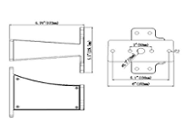 LKHD300-5K-A-HV 300 Watt LED Area Light Fixture, Deco Style Parking Lot Light Fixture 1000 Watt MH Replacement with Arm Mount