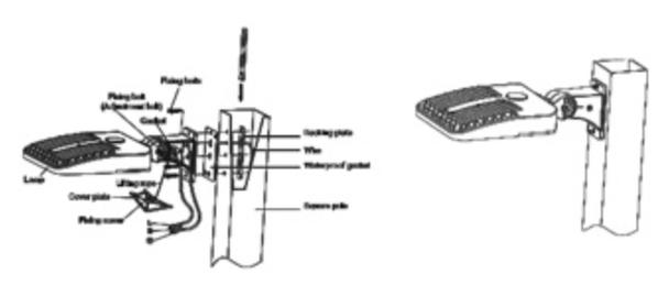 LKHC240-5K-A-480V 240 Watt Shoebox Light Fixture, LED Parking Lot Light Fixture 1000 Watt MH Replacement Arm Mount