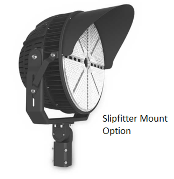 480 Volt 1200 Watt LED Stadium Spot Light for Athletic fields and sports arenas. High Power LED Array UL DLC
