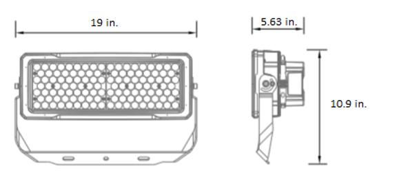 LSLM250-5K-HV 480V 250 Watt LED Flood Light with individually adjustable LED Arrays for Arenas and sports Field Lighting. UL DLC