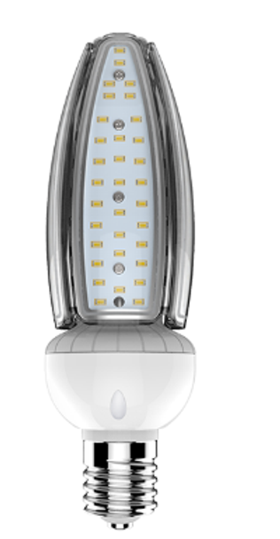 ICT50-5K-E26 50 Watt White White LED Retrofit Bulb, E26 Base with E39 Adapter UL DLC Listed 5K, Narrow T15 Form Factor, shadow free design. UL DLC Certified 5000K Color.