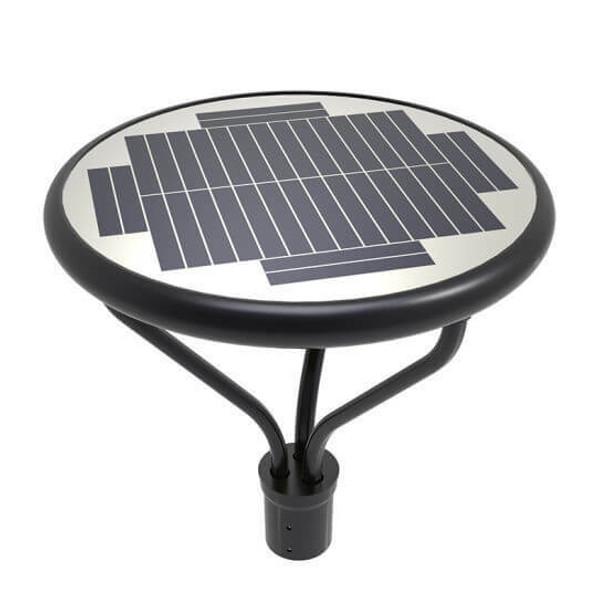 "ILPLB-6K Solar Powered Post top Light Fixtures 2500 Lumens for standard 2.44"" to 3"" Posts"