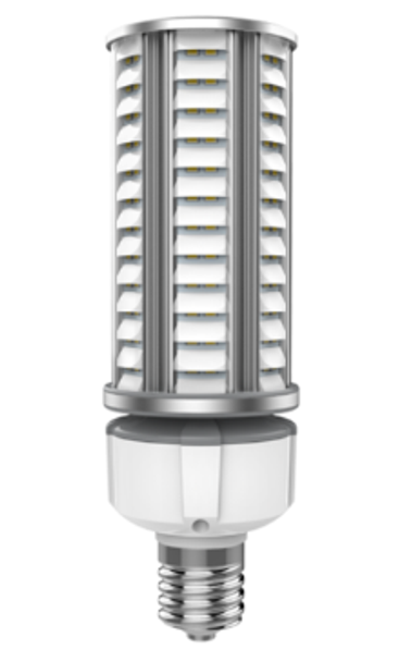 36 Watt Dark Skies Compliant LED Retrofit Bulb, E26 Base with E39 Adapter UL DLC Listed 5K, 4kv surge protection. UL DLC Certified 5000K Color.