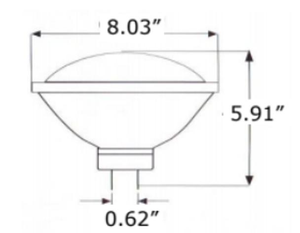 LED Par64 Lamp with GX16D Base 3000K Color Temp nondimmable