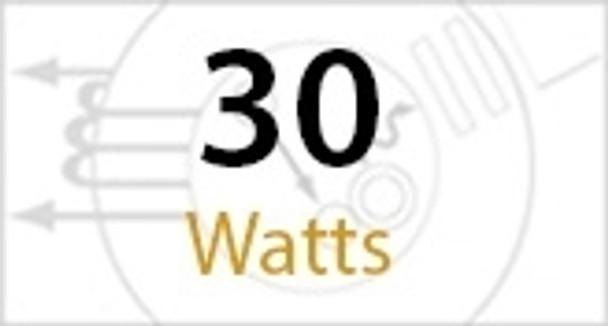30 Watt Round Type B LED PL light Bulb 140 degree Beam Angle 3000K, 42W CFL Replacement  2500 Lumens