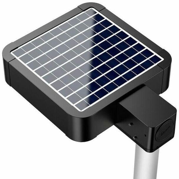 LASB35 Solar Powered Walk way light 5000 Lumens Shoe Box Area light Style 200 Watt Metal halide Equal post Mount