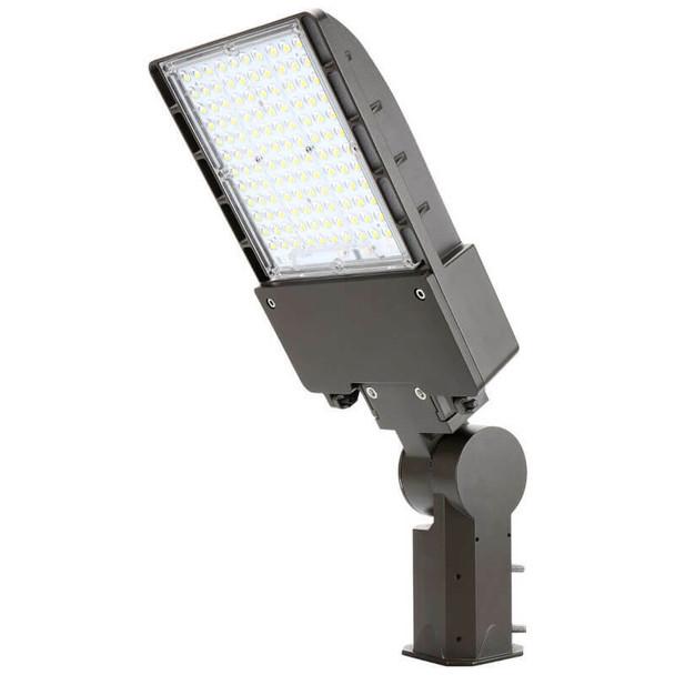 IL-MAL04-200-4K-S 480 VAC 200W LED Flood Light Fixture, Medium Frame, with Slipfitter Mount, 4000K Color Temp, Area Light Fixture 800 Watt MH Equivalent