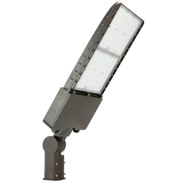 IL-MAL04-300-4K-S 480 VAC High Mast 300 Watt LED Flood Light Fixture with Slipfitter Mount, 4000K Color Temp, Parking lot Light Fixture 1500 Watt Metal Halide Equivalent