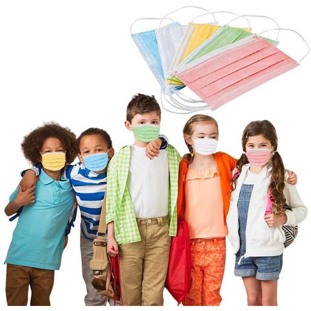 Kid's Face Masks - 50 Pack
