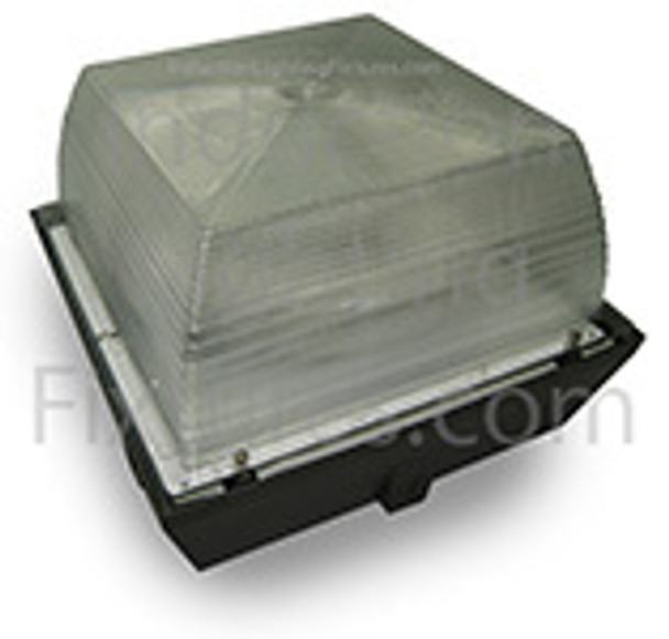 "100 Watt Induction Parking Garage Light Fixture / 12"" Square Outdoor Fixture, Canopy Light"