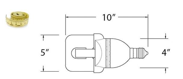 LVD Venus 50W Induction Self Ballasted Retrofit Lamp E26 / E39 120v, 220v, 277v 50 Watt 3000K - 5000K