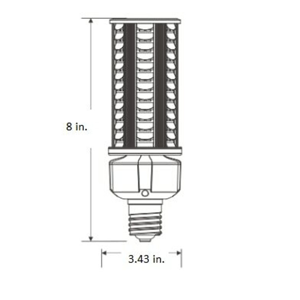 ICDS36 36 Watt Dark Skies Compliant LED Retrofit Bulb, E26 Base with E39 Adapter UL DLC Listed, 4kv surge protection UL DLC Certified 3000K - 6000K