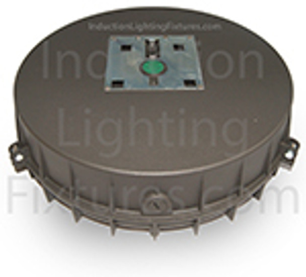 """IGF5T80 80 watt Induction Parking Garage Fixture / Conical 15"""" Round Cone Fixture for Surface and Canopy Mounting with Built-in Heat Sink"""