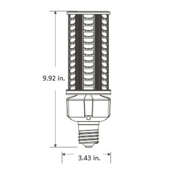 ICDS-54 54 Watt Dark Skies Compliant LED Retrofit Bulb, E26 Base with E39 Adapter UL DLC Listed, 4kv surge protection UL DLC Certified 3000K - 6000K