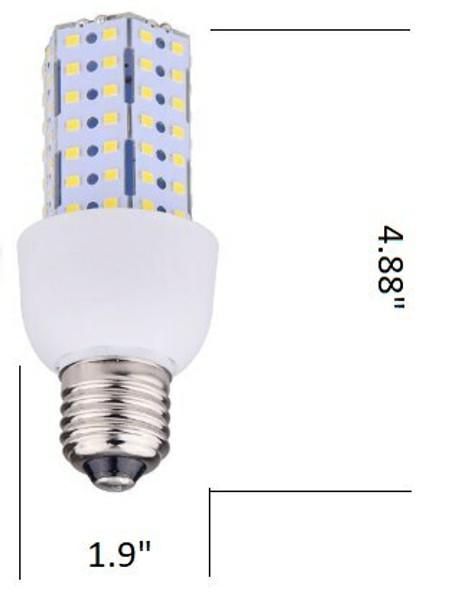 ICD9 Triac Dimmable 9 Watt Corn Cob LED 120v, 360 Degrees, E26 Medium Base UL & DLC 3000K - 6000K