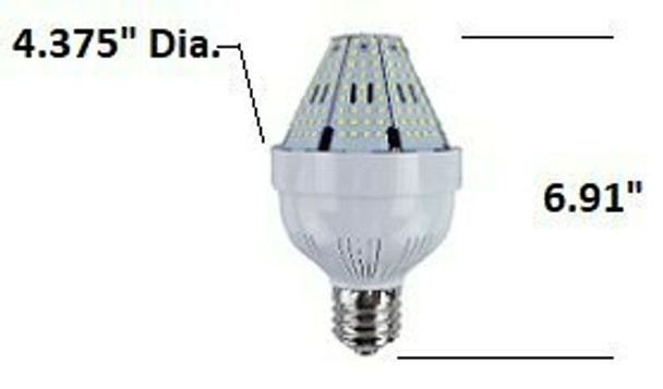 ICYA80 80 Watt Post Top Mounted LED Bulb, 120v/480v, E39/EX39,  HID Replacement Lamps  3000K - 6000K