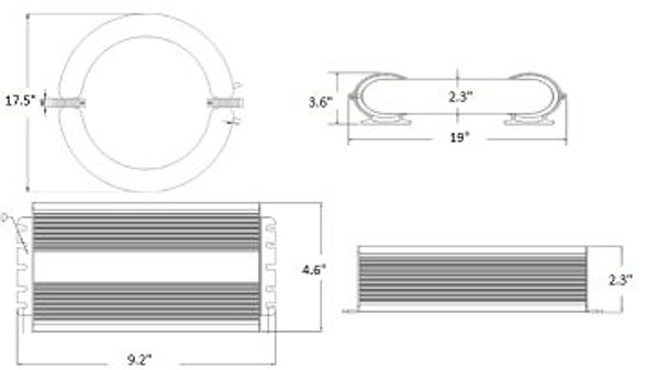 ILRL400 400W Induction Circular Light, Round Lamp and Ballast Retrofit Kit 120v 3000K - 5000K