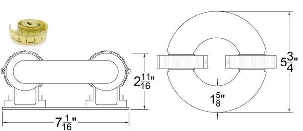 ILRL60 60W Induction Circular Light, Round Lamp and Ballast Retrofit Kit 120v 3000K - 5000K