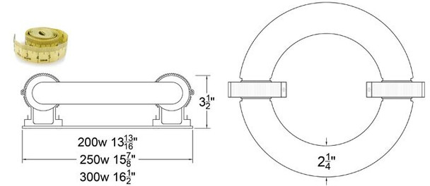 ILRL200 200W Induction Circular Light, Round Lamp and Ballast Retrofit Kit 120v 3000K - 6000K