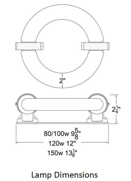 ILRLBJK150 150W Induction Circular Light Round Replacement JK ST150W 103WJY150HRZ01 120v 3000K - 5000K (Lamp Only)