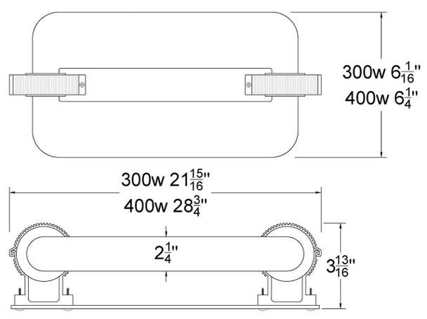ILSLBJK300 300W Induction Rectangular Light Square Replacement Lamp JK ST300W 103WJY300JRZ01 120v 3000K - 5000K (Lamp Only)
