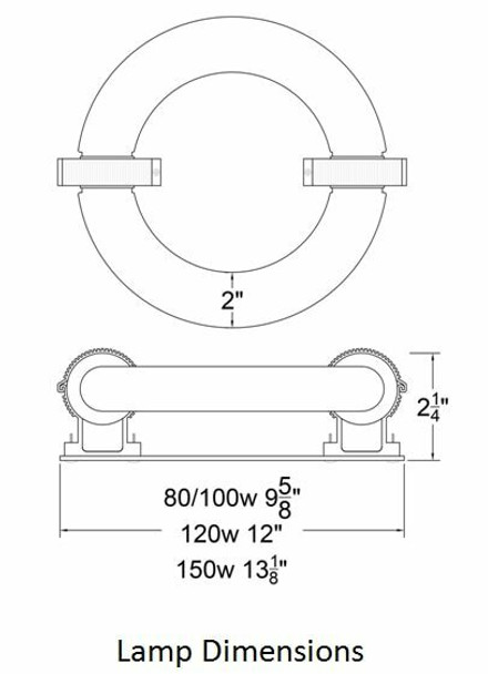 ILRLBJK60 60W Induction Circular Light Round Replacement Lamp JK ST60W 103WJY060HRZ01 120v 3000K - 6000K (Lamp Only)