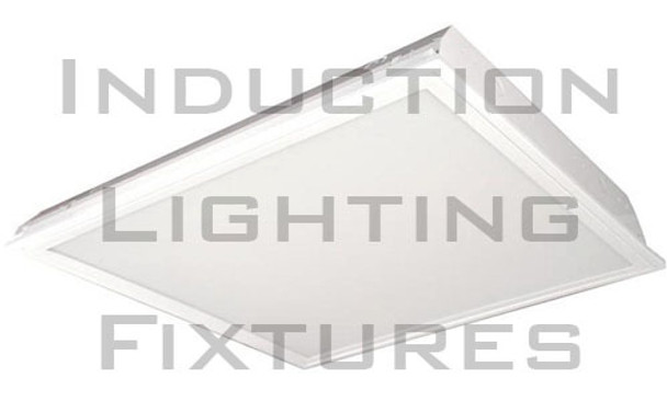 IRF640 Series 40W Induction 2x2 ft. Troffer Ceiling Light Fixture Lay-in Recessed with High Reflector Lens 40 Watt