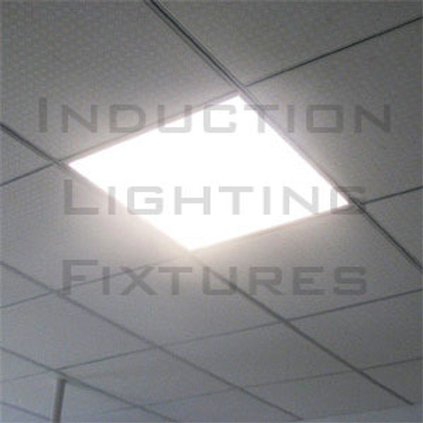 IRF680 80W Induction 2x2 ft Troffer Ceiling Light Fixture Lay-in Recessed with High Reflector Lens 80 Watt