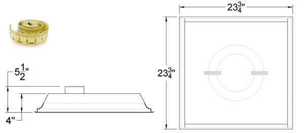 IRF6120 120W Induction 2x2 ft Troffer Ceiling Light Fixture Lay-in Recessed with High Reflector Lens 120 Watt