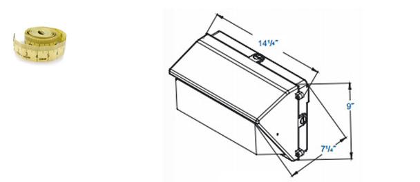 IWPM Series 40W Large Induction Outdoor Wall Mount Wall Pack Light Fixture 40 watt