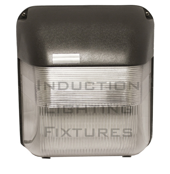 """IWHM60 60W Induction Prismatic Wall Pack Light Fixture, 12"""" Square, Wall Mount, Outdoor light 60 Watt"""