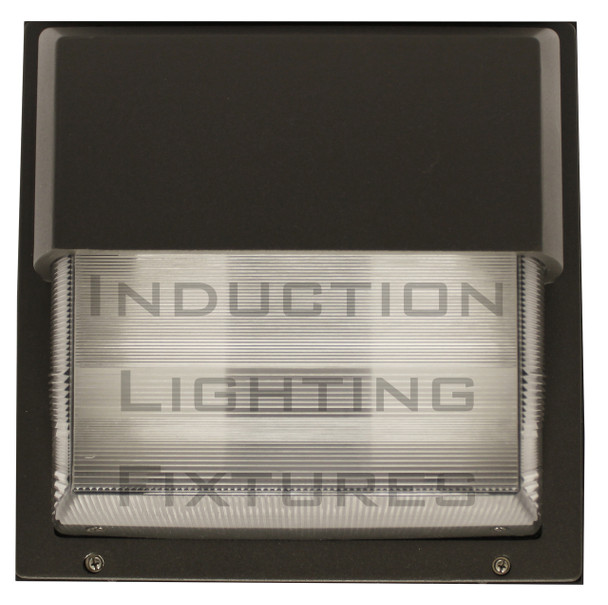 """IWH80 80W Induction Prismatic Wall Pack Light Fixture, 12"""" Square, Wall Mount, Outdoor light 80 Watt"""