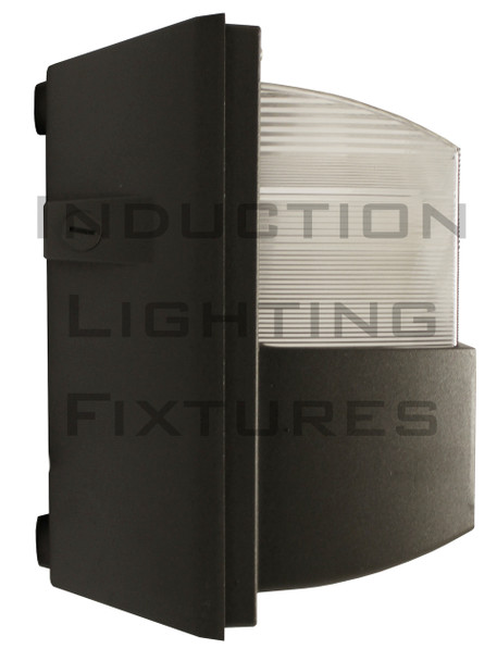 """IWH120 Series 120W  Induction Prismatic Wall Pack Light Fixture,12"""" Square, Wall Mount, Outdoor light 120 Watt"""