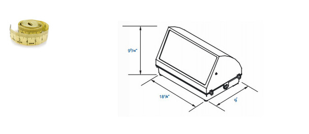 IW180 Series 80W Induction Wall Pack Outdoor Light Fixture 18 inch width, 45 Degree Cutoff, 80 Watt