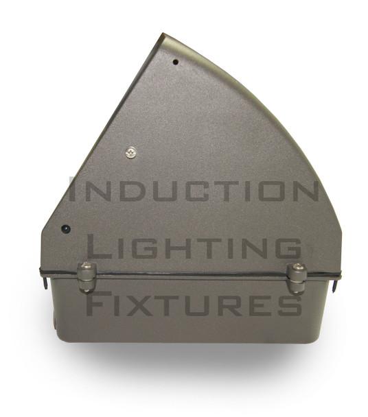 IW1100 Series 100W Induction Wall Pack Outdoor Light Fixture 18 inch width, 45 Degree Cutoff, 100 Watt